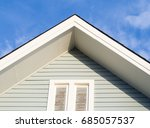 white gables and light green... | Shutterstock . vector #685057537
