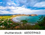 pacific ocean rocks san juan... | Shutterstock . vector #685059463
