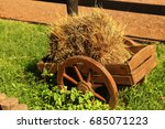 Decorative Horse Cart With Hay...