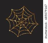 golden glitter silhouette... | Shutterstock .eps vector #685079167