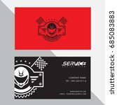 business card vector design and ... | Shutterstock .eps vector #685083883