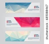 a set of modern vector abstract ...   Shutterstock .eps vector #685088467