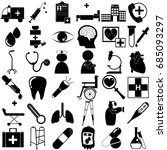 medical icons with white... | Shutterstock .eps vector #685093297