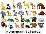 extra large set of animals... | Shutterstock .eps vector #68510521