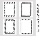 set of silhouette vertical...   Shutterstock .eps vector #685107103