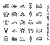 automobile line vector icons 6 | Shutterstock .eps vector #685109407
