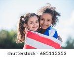 Portrait Multicultural Smiling Girls Towel - Fine Art prints