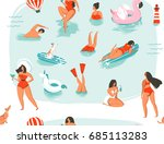hand drawn vector abstract... | Shutterstock .eps vector #685113283