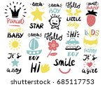 14 children s logo with... | Shutterstock .eps vector #685117753