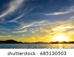 peaceful sea and sunshine from... | Shutterstock . vector #685130503