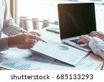 close up hand holding a pen... | Shutterstock . vector #685133293