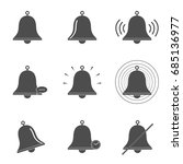 bell icons set