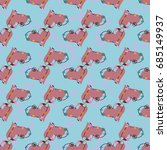 new colorful seamless pattern... | Shutterstock .eps vector #685149937