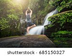 young man meditating and relax... | Shutterstock . vector #685150327