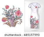 embroidery colorful trend... | Shutterstock . vector #685157593