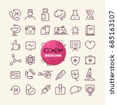 different trendy outline icons... | Shutterstock .eps vector #685163107