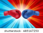 fighting for comic background.... | Shutterstock .eps vector #685167253