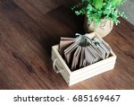 sample of many colors wood... | Shutterstock . vector #685169467