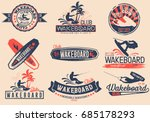 vintage vector set of logos for ... | Shutterstock .eps vector #685178293