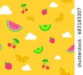 flat art simple yellow summer...   Shutterstock .eps vector #685185307