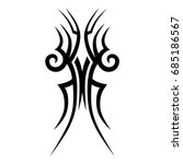 tattoo tribal vector design.... | Shutterstock .eps vector #685186567