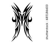 tattoo tribal vector design.... | Shutterstock .eps vector #685186603