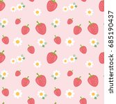 seamless pattern with little... | Shutterstock .eps vector #685190437