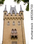tower of castle hohenzollern  | Shutterstock . vector #685206733