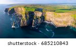 aerial view of cliffs of moher  ...   Shutterstock . vector #685210843