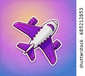 vector illustration. toy plane... | Shutterstock .eps vector #685212853