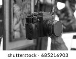 old retro vintage black film... | Shutterstock . vector #685216903