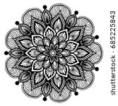 mandalas for coloring book.... | Shutterstock .eps vector #685225843