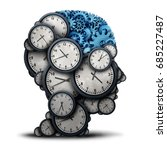 thinking business time concept... | Shutterstock . vector #685227487