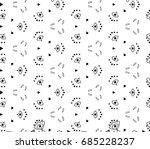 retro seamless tulip  lily... | Shutterstock .eps vector #685228237