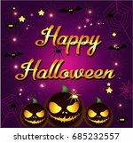 halloween cartoon | Shutterstock .eps vector #685232557