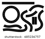 road  icon  winding curved road ...   Shutterstock .eps vector #685236757