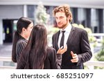business people have a meeting... | Shutterstock . vector #685251097