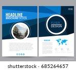 abstract vector modern flyers...   Shutterstock .eps vector #685264657