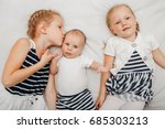 lifestyle portrait of cute... | Shutterstock . vector #685303213