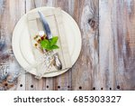 summer table setting.... | Shutterstock . vector #685303327