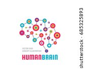 abstract human brain   business ... | Shutterstock .eps vector #685325893