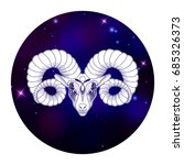 aries zodiac sign  horoscope...   Shutterstock .eps vector #685326373