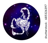 scorpio zodiac sign  horoscope... | Shutterstock .eps vector #685326397