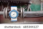flowmeter installed on the... | Shutterstock . vector #685344127
