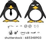 cute hipster penguin baby... | Shutterstock .eps vector #685348903