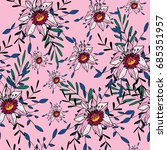 seamless pattern with cute...   Shutterstock .eps vector #685351957