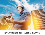 builder is a man in a...   Shutterstock . vector #685356943