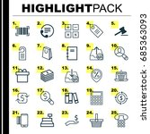 ecommerce icons set. collection ... | Shutterstock .eps vector #685363093