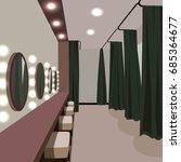 dressing room 3d | Shutterstock .eps vector #685364677