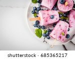 summer sweets and desserts....   Shutterstock . vector #685365217